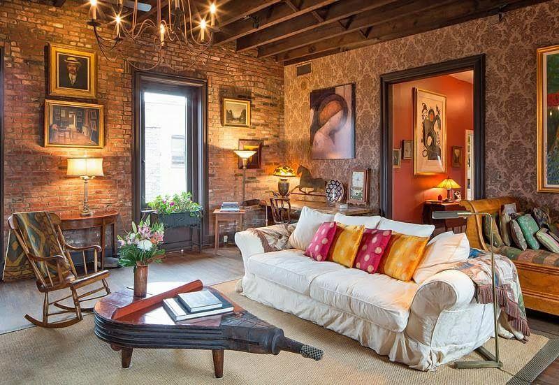 Rustic Home in West Village #house @Michael Atkins House Love www.bighouselove.com #livingroom #rustic #interior