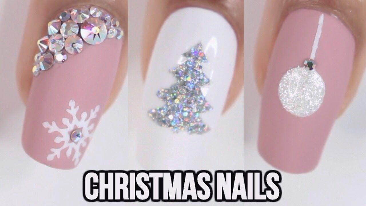 5 Easy Christmas Nail Ideas Youtube Nail Arts Pinterest Easy
