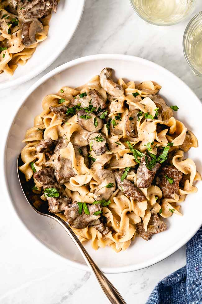One Skillet Easy Beef Stroganoff | Recipe (With images ...