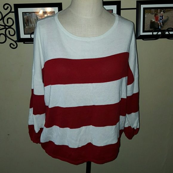 SALE!* Oversized Comfy Red White Striped Sweater Gap brand. Size ...
