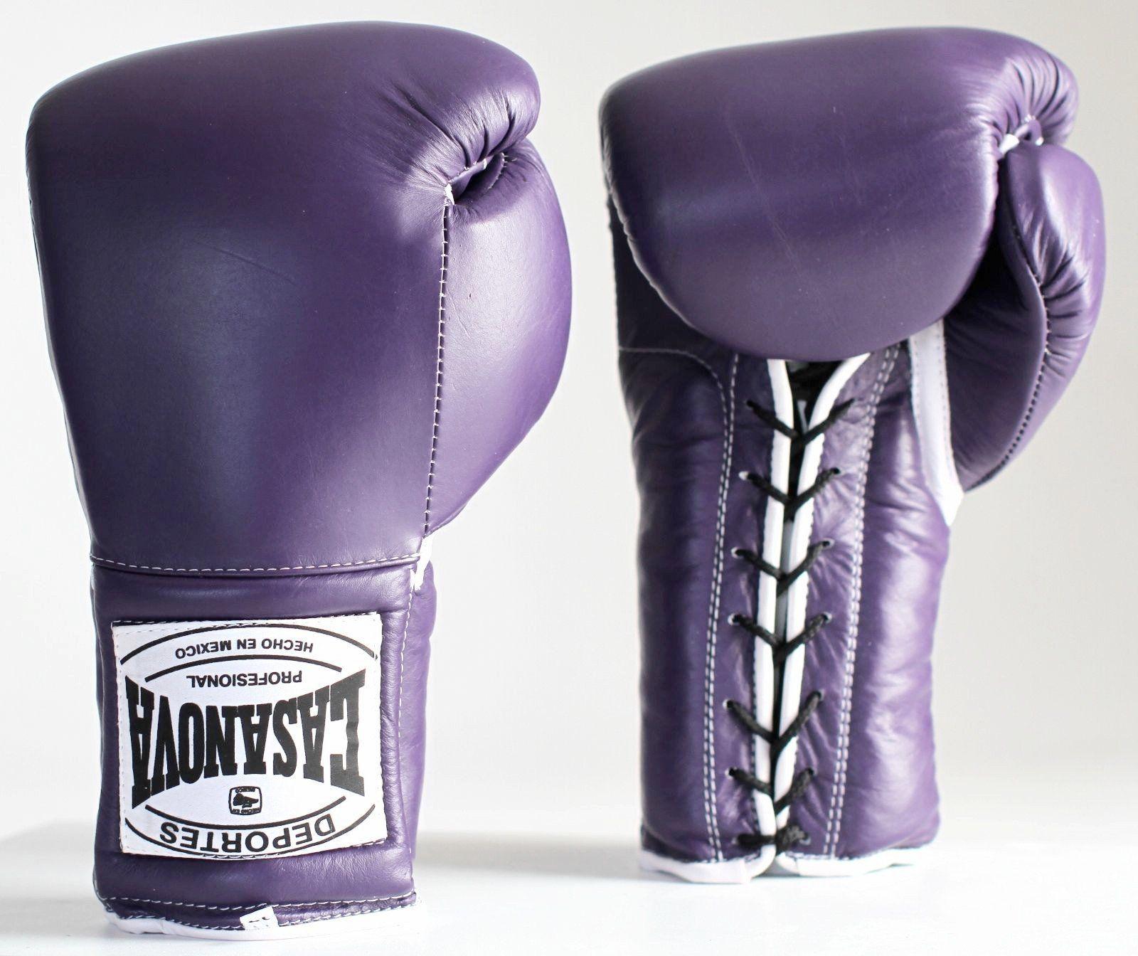 Purple grant boxing gloves