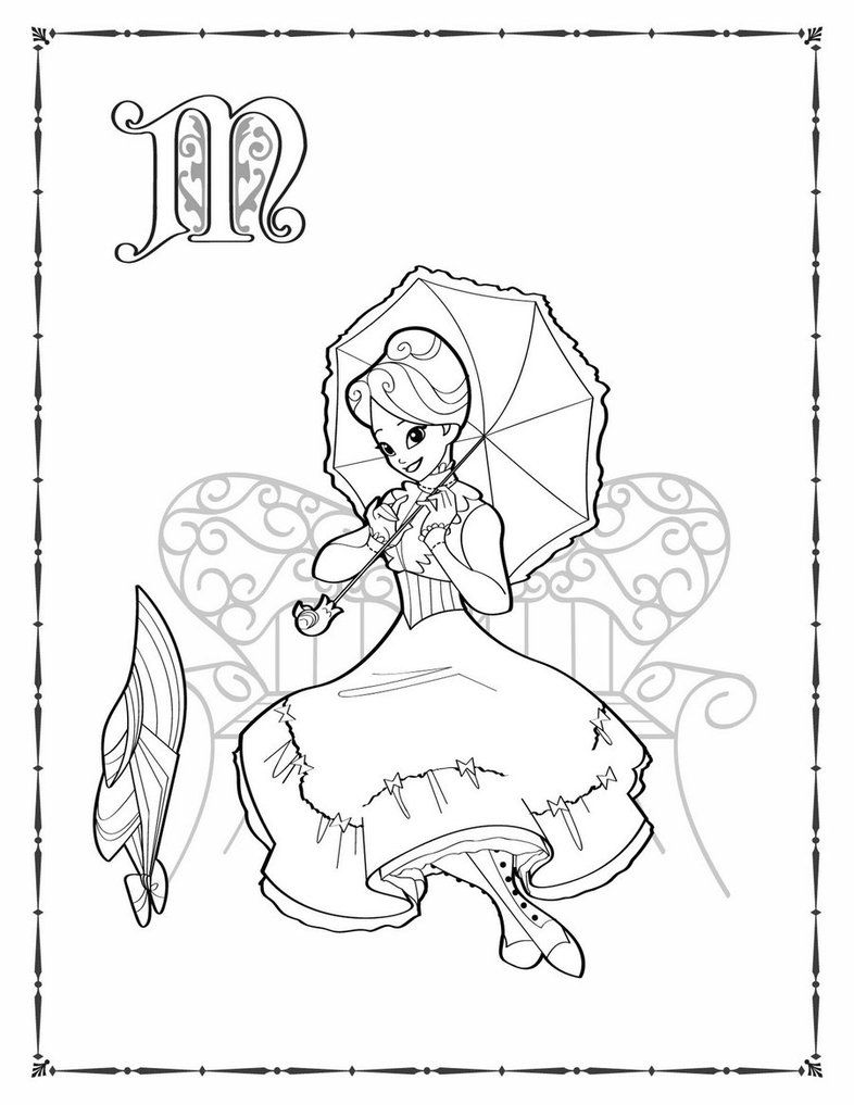 mary poppins coloring pages already colored | Mary Poppins coloring by ~BetterthanBunnies on deviantART ...