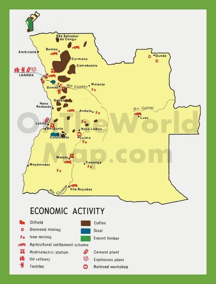 Economic map of Algeria Maps Pinterest Economic map