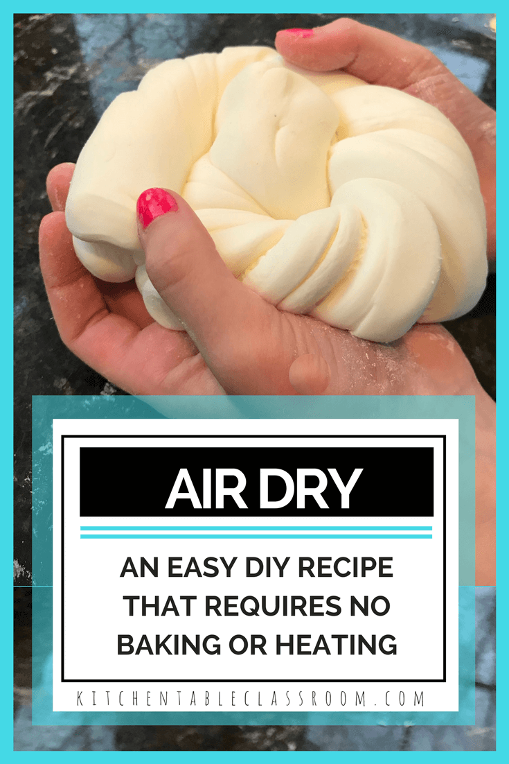 air dry clay an easy diy clay recipe high scope pinterest