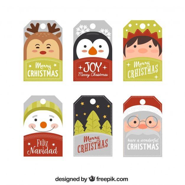 Feliz Navidad Rotulos.Conjunto De Rotulos Com Personagens De Natal Happy New