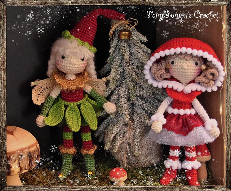 Tutorial De Amigurumis Navideños : Amigurumi luna the elf and zelia the christmas doll tutorial