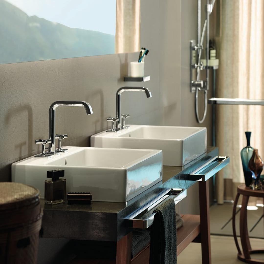 His and Hers  #AXOR #AXORnordic #AntonioCitterio #design #interior #interiordesign #bathroom #bathroomdesign #bathroominspo #inspiremeinterior #interiorinspirasjon #inredning