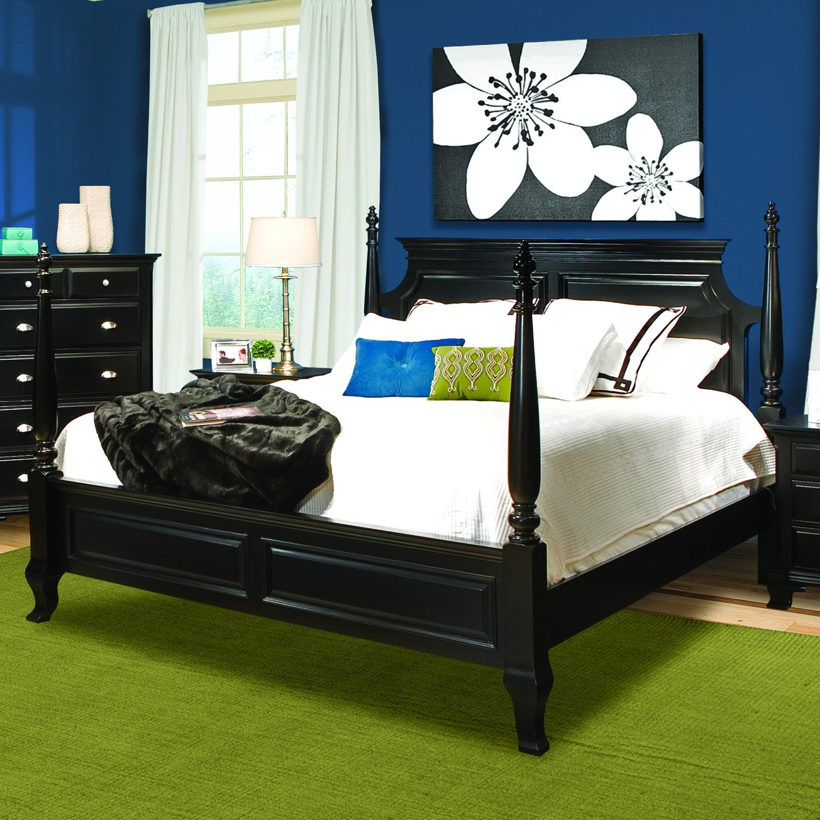 Chelsea Ebony Black Panel Bed 680.00 Bed with raised