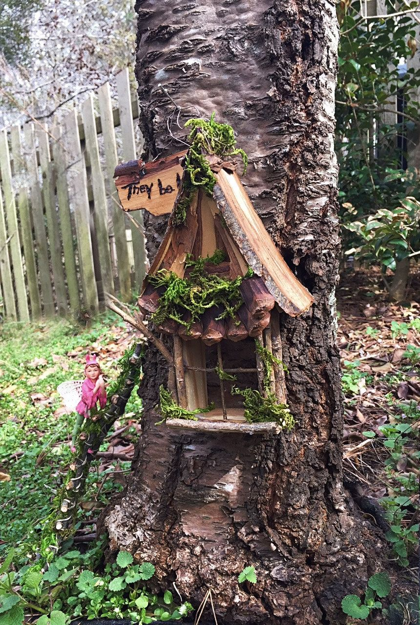 Fairy Window With Gabled Pinecone Accent By