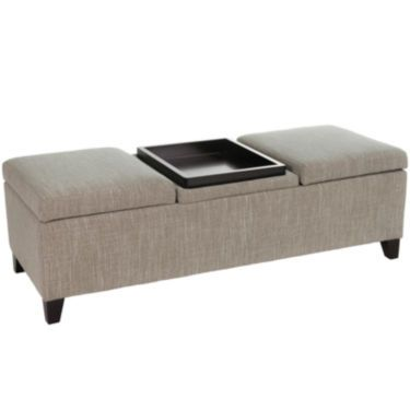 Superb Jcp | Colter Tray Top Storage Bench