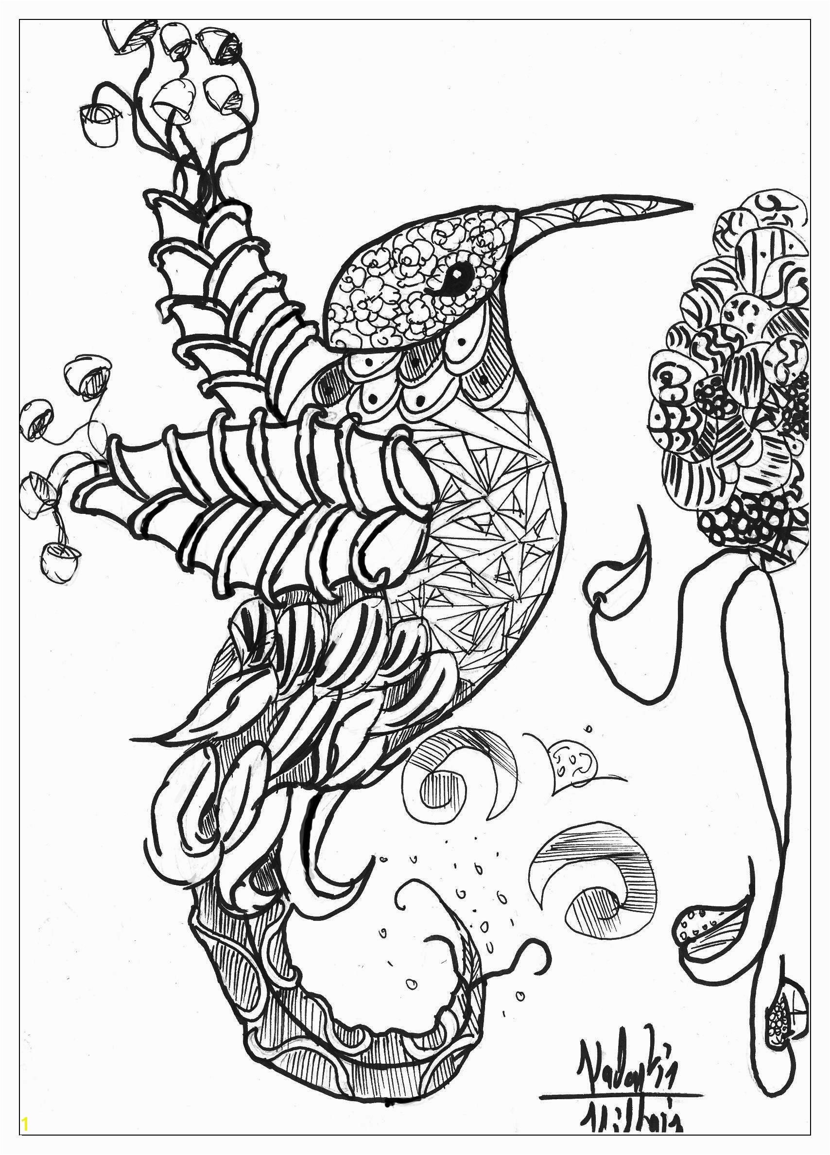 Abstract Detailed Animal Coloring Pages   Best Coloring Pages