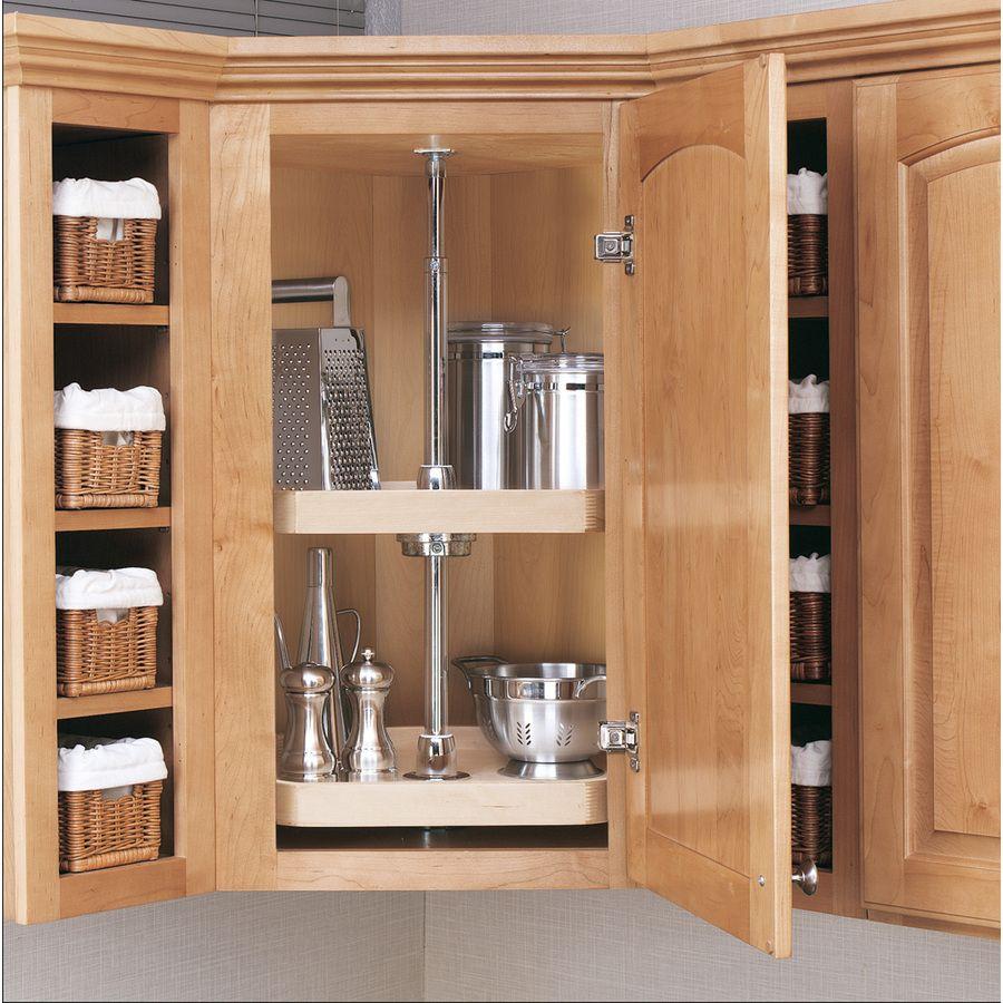 Best 2 Tier Wood D Shape Cabinet Lazy Susan Rev A Shelf Lazy 400 x 300