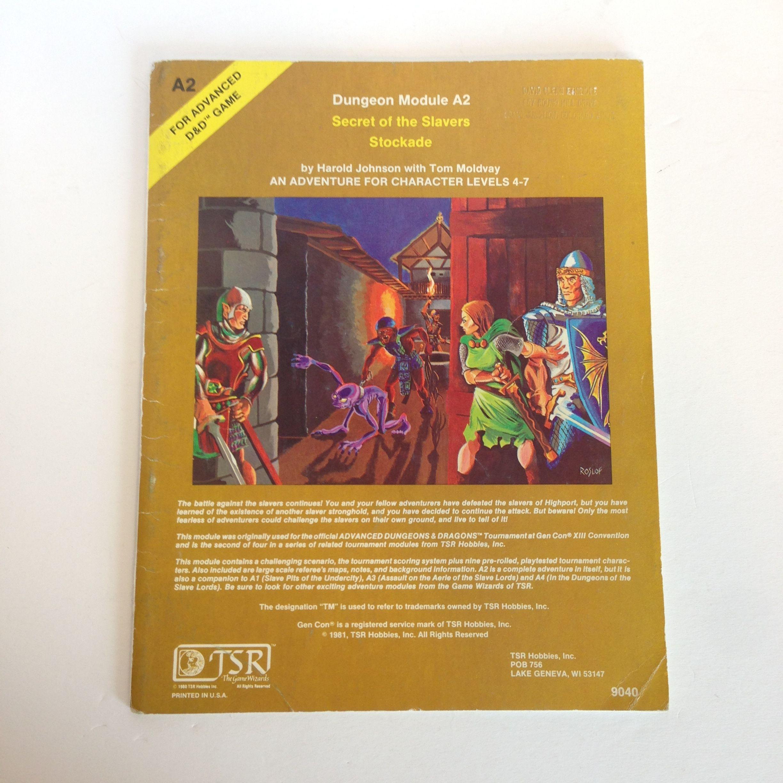 D D 1st 4th Editions Ad D A2 Secret Of The Slavers Stockade