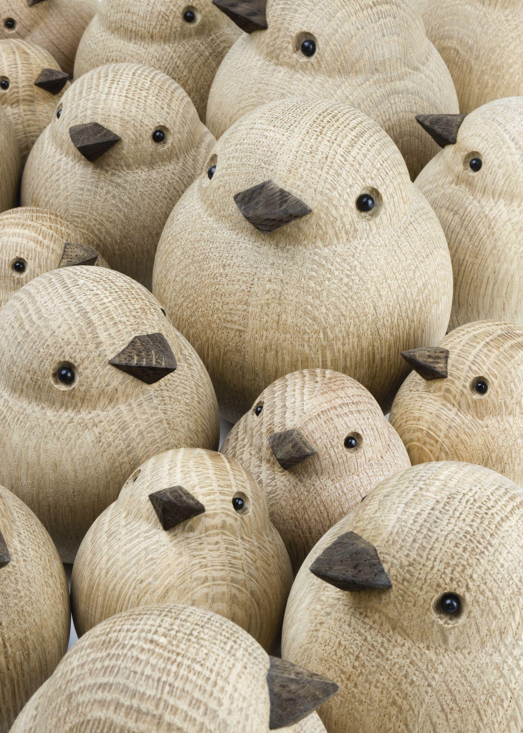 Dekorativ træfugl til hjemmet - Oak wood Bird -   ModernRoom   torno   Madera