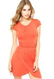Vestido Anna Flynn Simple Laranja