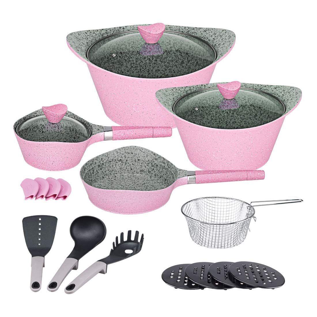 Ceramic cookware set dishwasher safe nonstick aluminum