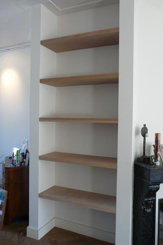 Planken in de nis van de eetkamer | Woonkamer | Pinterest | Met ...