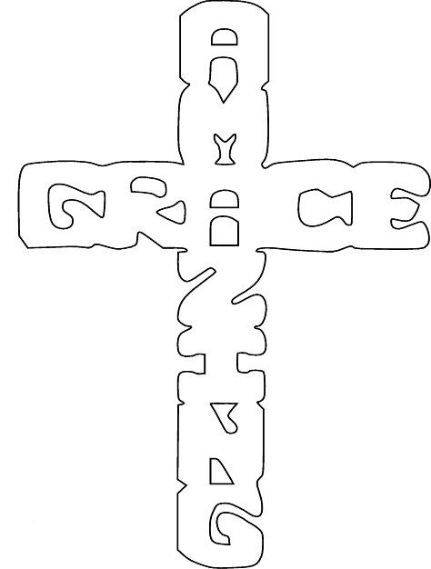 Free Scroll Saw Patterns by Arpop: Amazing Grace Cross