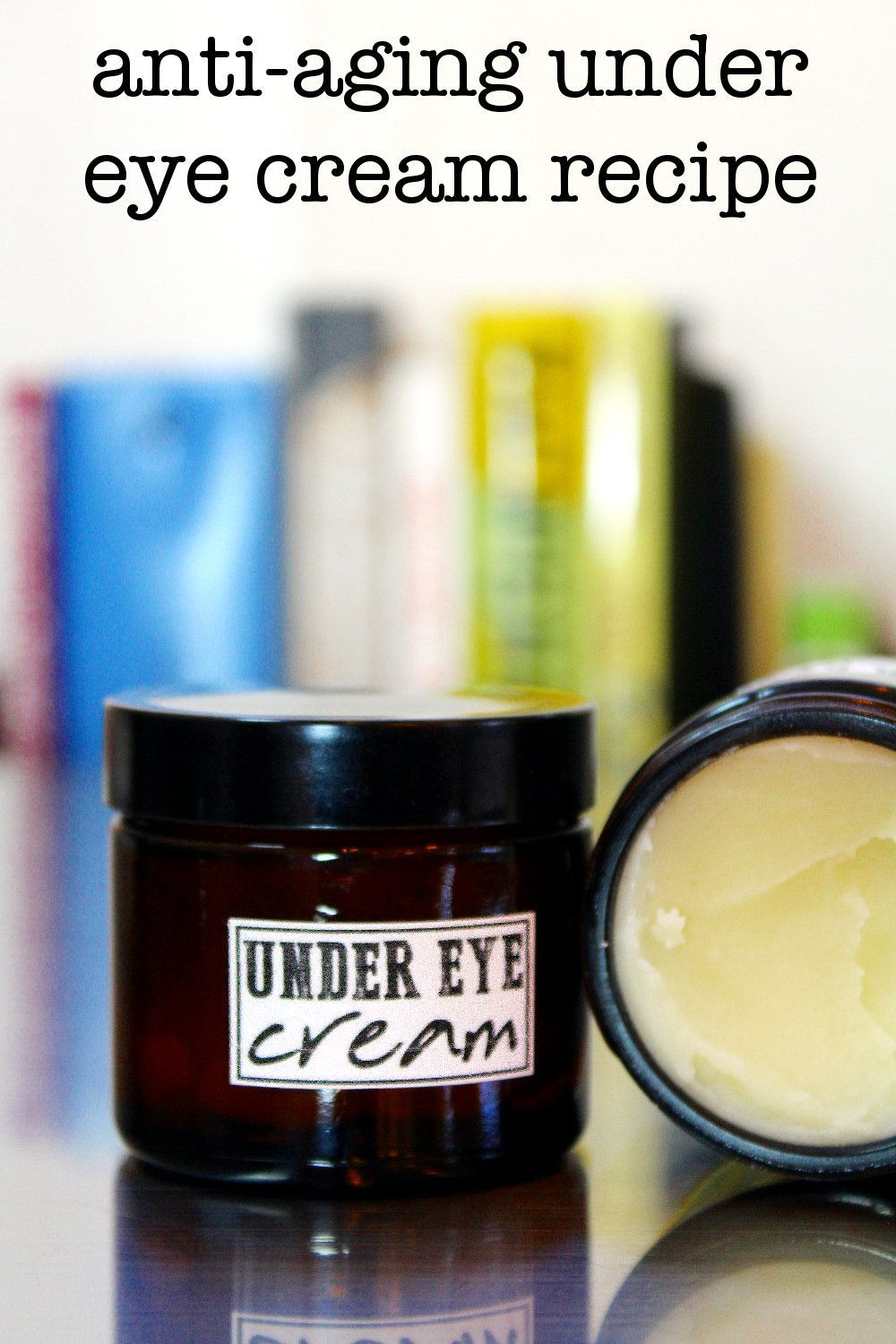 My diy antiaging under eye cream with hyaluronic acid hydrates skin