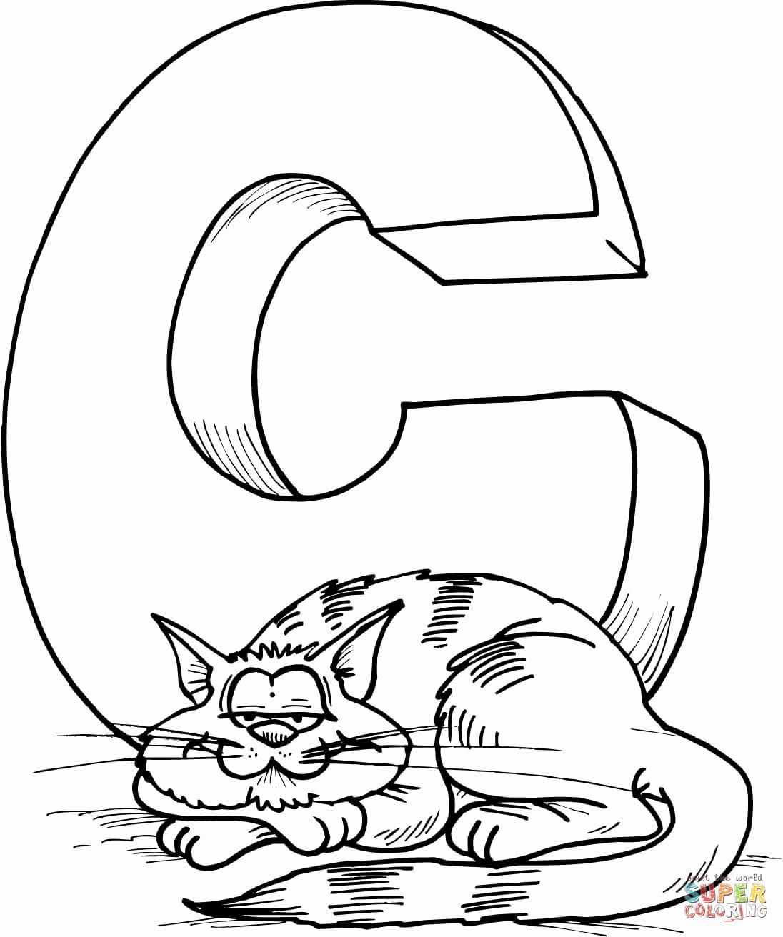 Letter C Coloring Sheet In