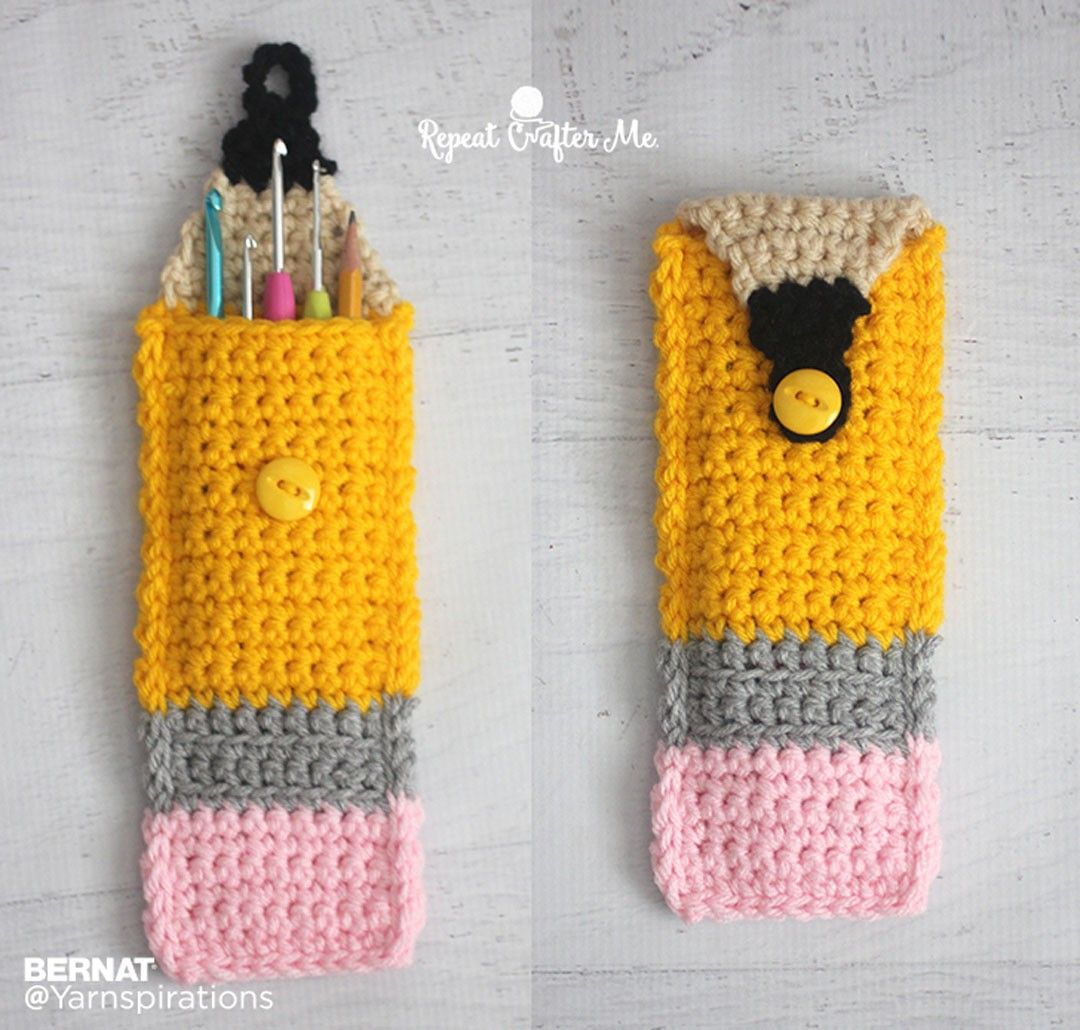 Crochet Pencil Pouch - Free Crochet Pattern - (yarnspirations ...