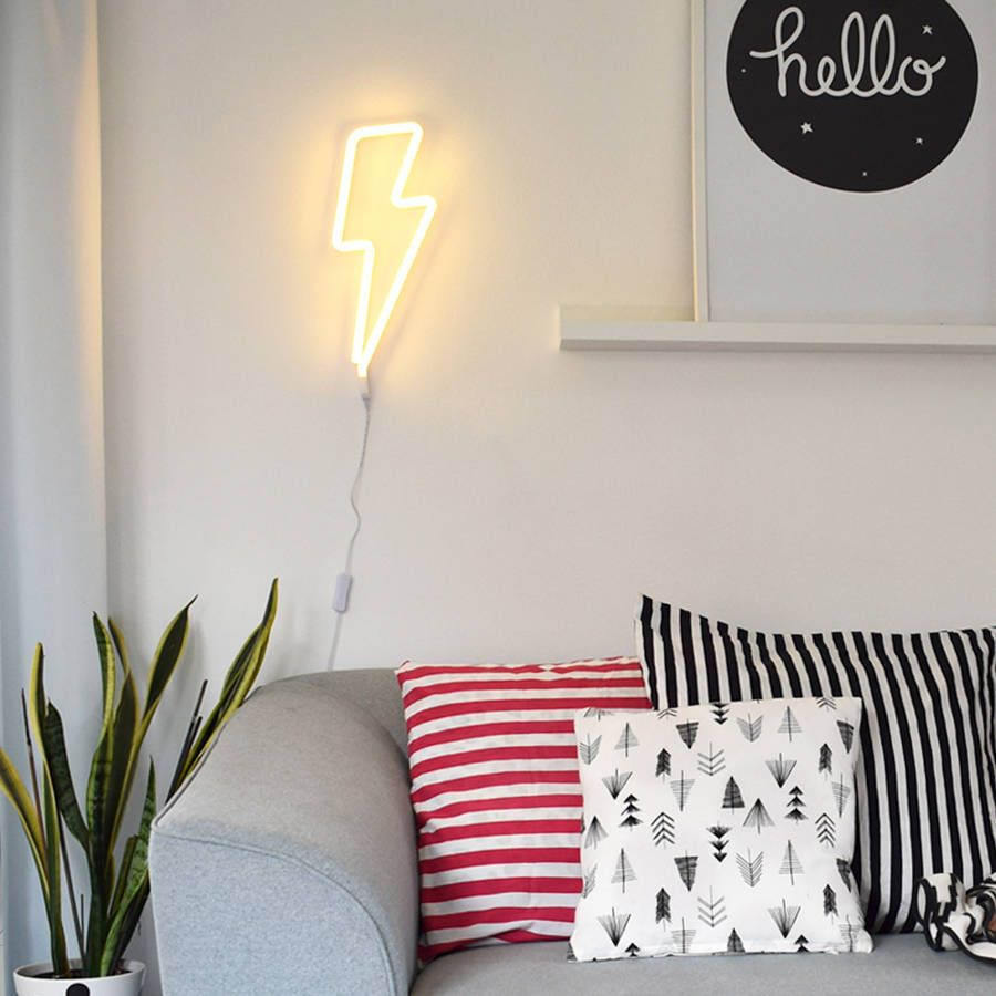 Are You Interested In Our Lightning Bolt Neon Wall Light