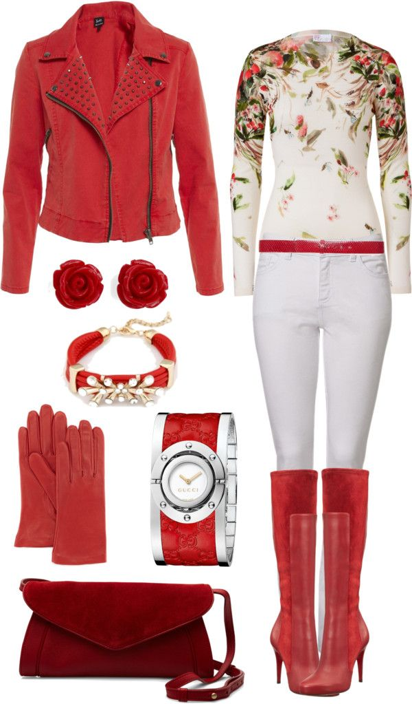 """Merry Red"" by angela-windsor on Polyvore"