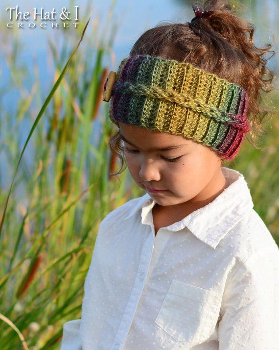 CROCHET PATTERN - Autumn Breeze Headwrap - crochet headband pattern ...