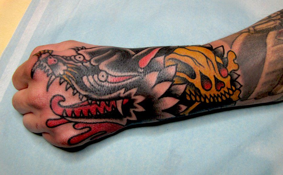 sick traditional style tattoo work