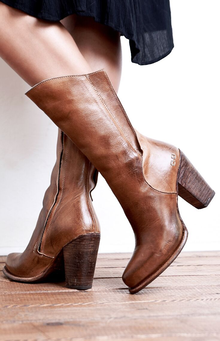 efc2c6ceeb4e5 These handmade tan leather boots by BEDSTU are flattering and ...