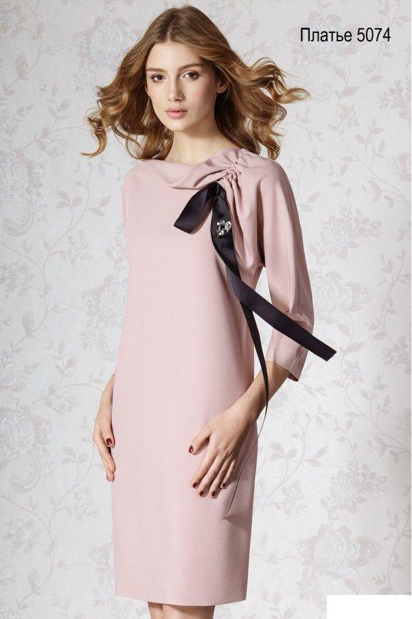 Платье Платье из пластичной креповой ткани, свободного силуэта с цельнокроеным | Одежда для женщин