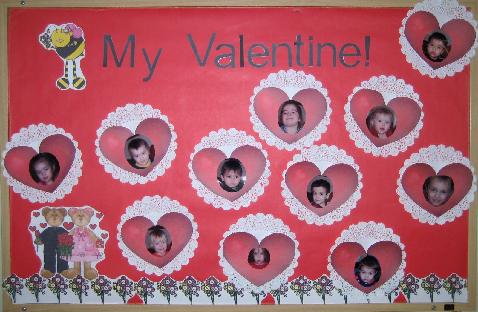 valentines day preschool bulletin board ideas | have added a bee my