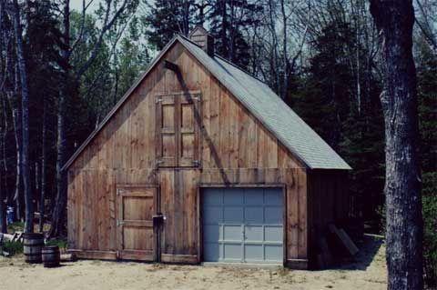 Prefab barns shelter kit blending in is cool retreat for Prefab barn house kit