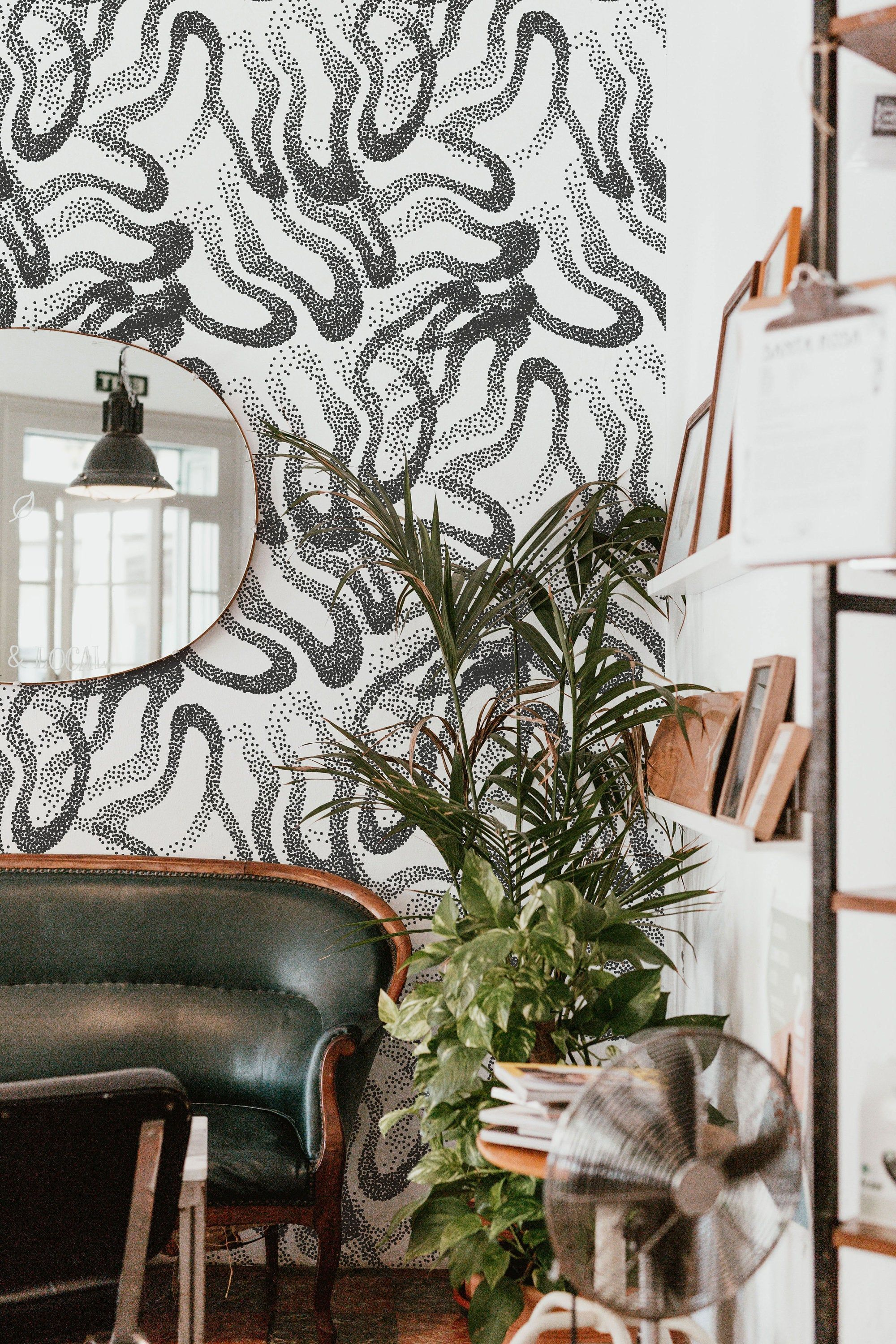 Black And White Dotted Peel And Stick Wallpaper Black And Etsy Peel And Stick Wallpaper Wallpaper Black And White Wallpaper