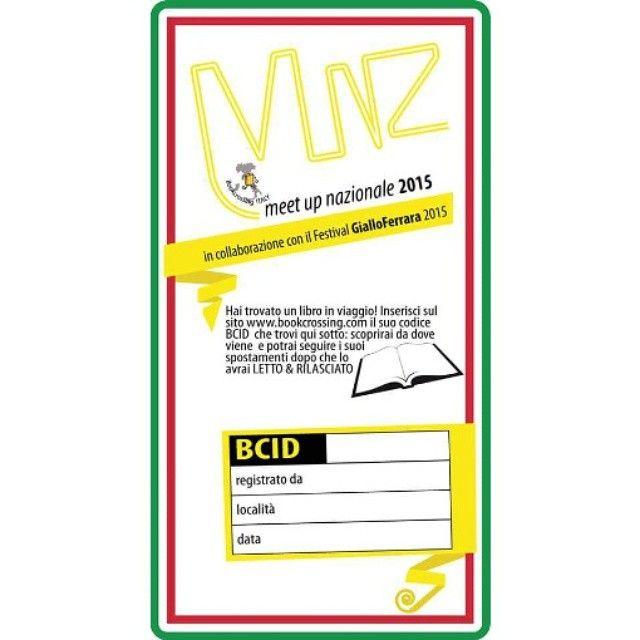 #ferrara #gialloferrara #giallofe15 #bookcrossing #munzferrara2015  L'etichetta ufficiale del #munz di #bookcrossingitaly al festival di GialloFerrara 2015