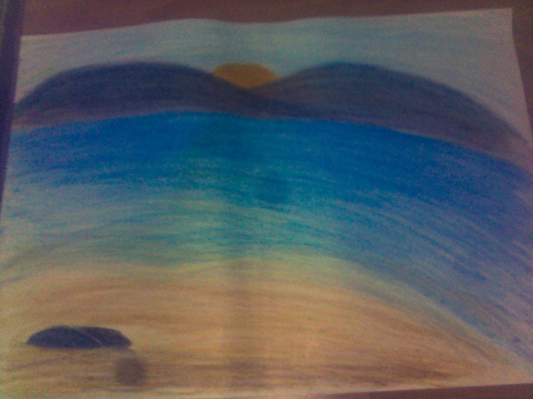 Pastel Boya Deniz Manzarasi Pastel Boyalar Pastel