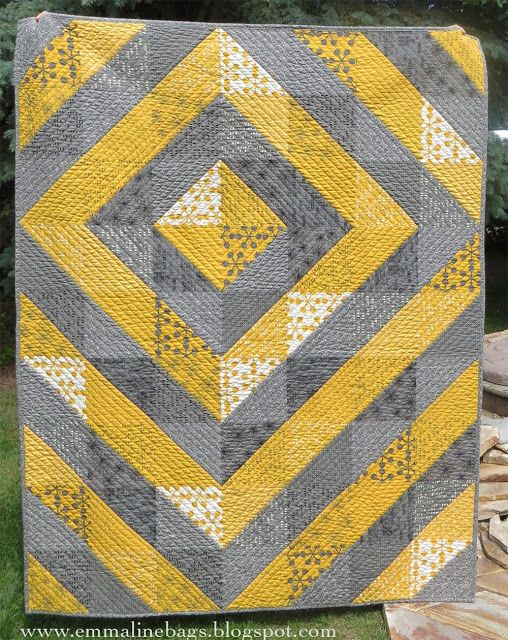 A Modern Wedding Quilt - Cutting, Piecing, and Quilting Instructions For YOU! - Emmaline Bags ...