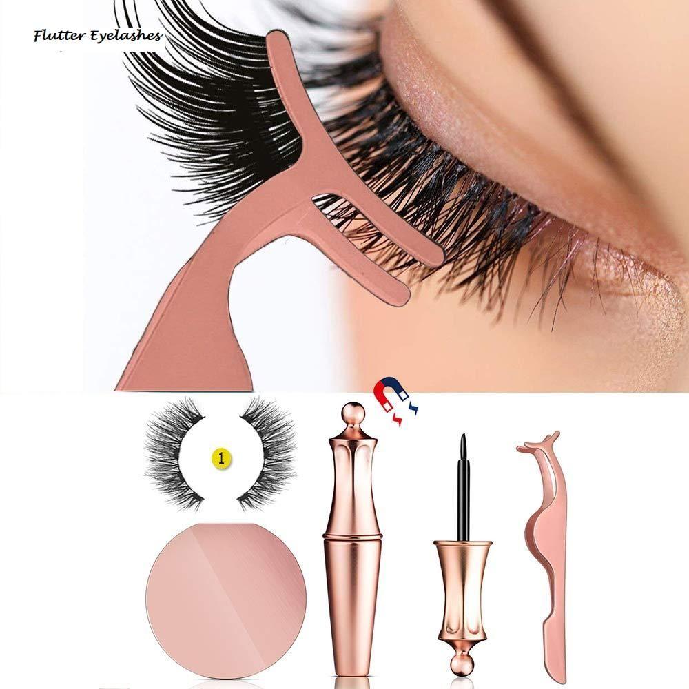 False eyelashes no glue full eye 5