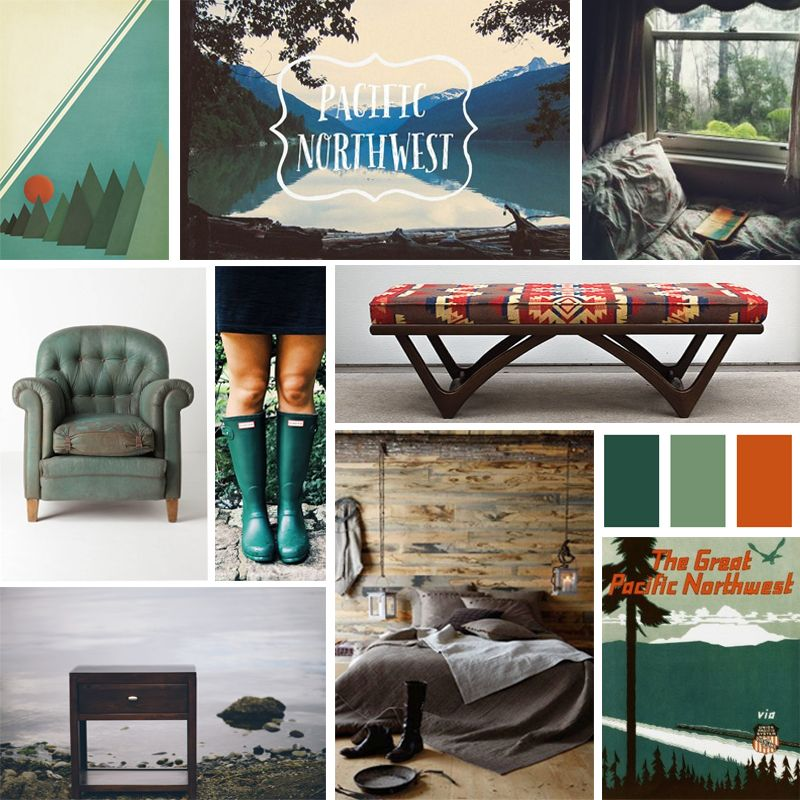 Pacific Northwest Mood Board - A Comfortable and Natural Bedroom Decor | Epoch Design