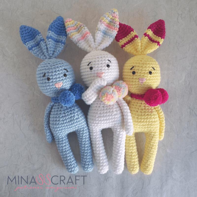 Bunny Rabbit Pom Pom amigurumi free crochet pattern | Amigurumi and ...