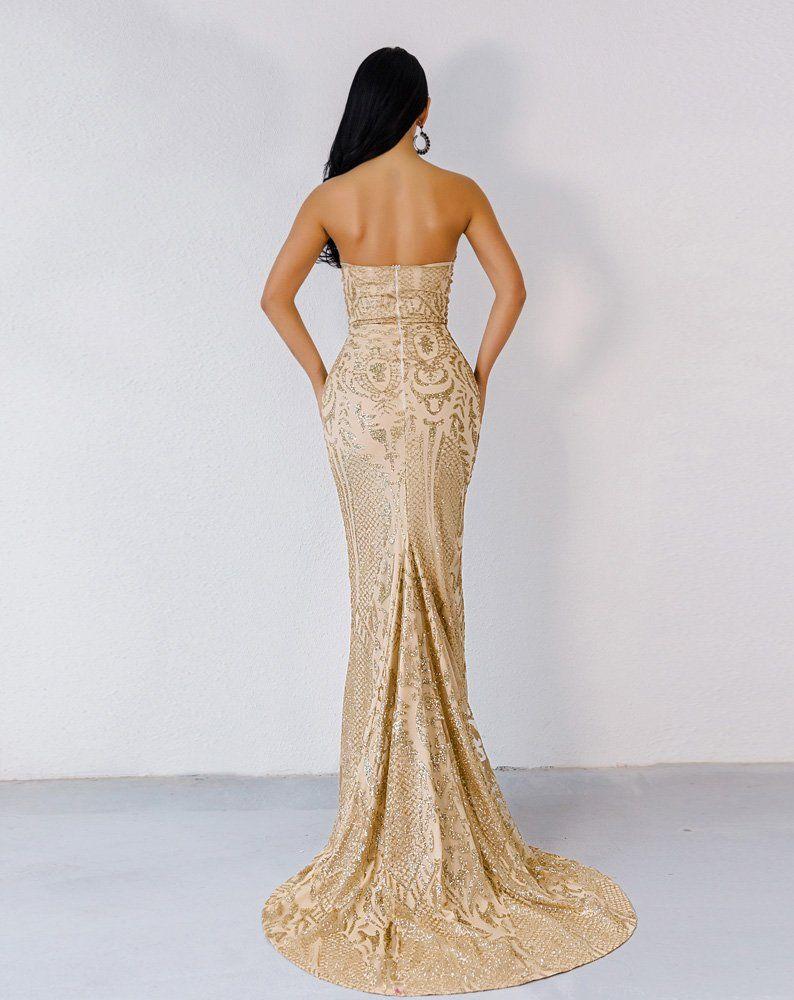 Miss Ord Women Bustier Strapless Off Shoulder Glitter Bodycon Mermaid Cocktail Dress Gold S Find Out Mo Dresses Gold Cocktail Dress Strapless Dress Formal [ 1000 x 794 Pixel ]