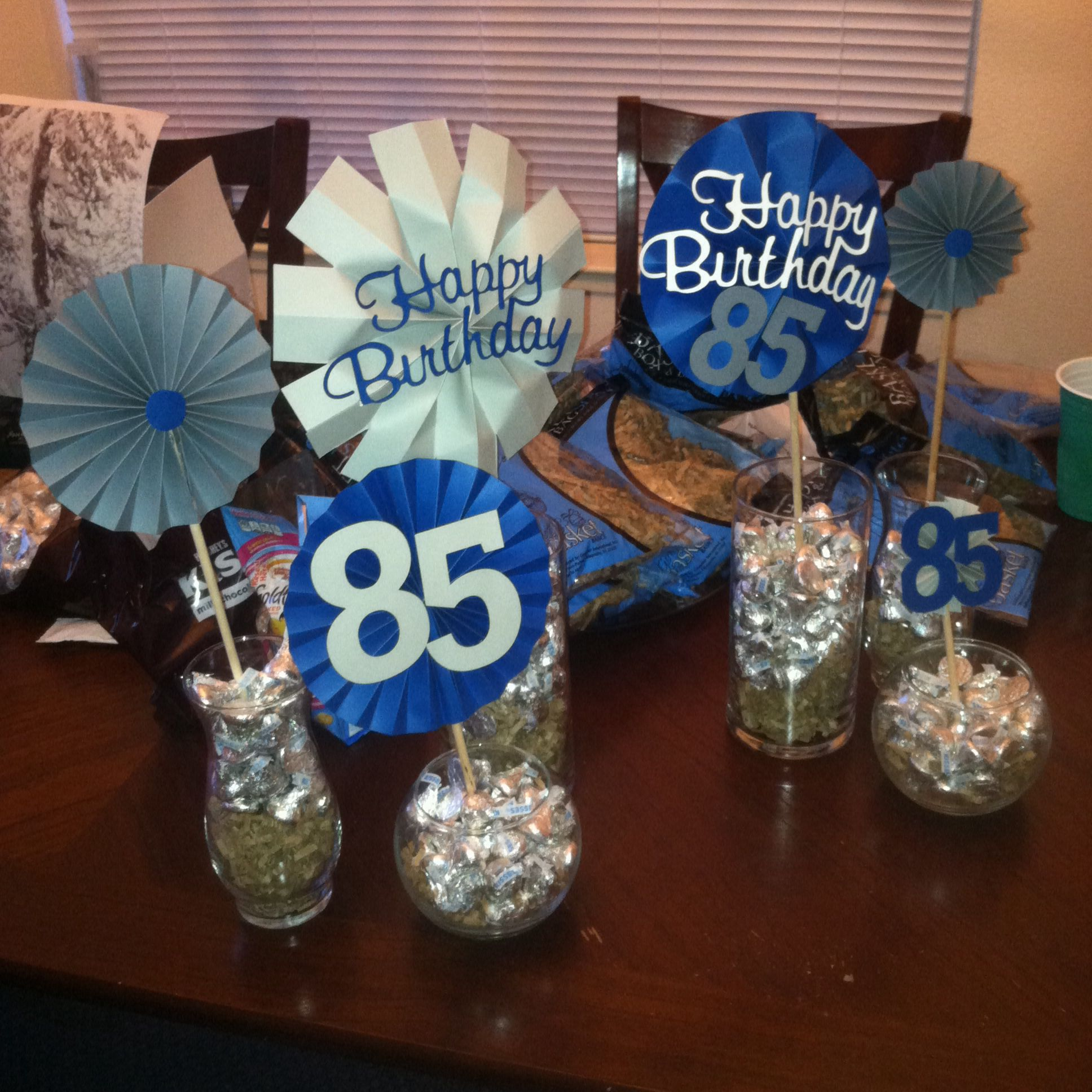Grandpaa 85th Birthday Party Easypeasybynoeeazy 90th Decorations 75th Parties