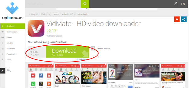 Vidmate Download App (Free) APK, PC, Android, iPhone