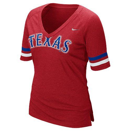 Texas Rangers Womens Half Sleeve Fan TShirt by Nike MLB