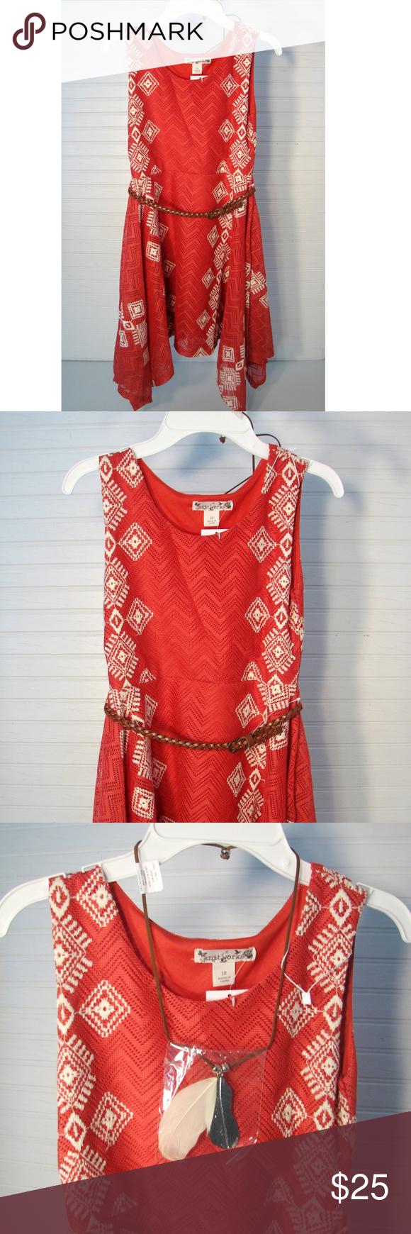 Orange dress casual  Girls Dress By Knit Works Handkerchief Hem Sz  NWT  My Posh Picks