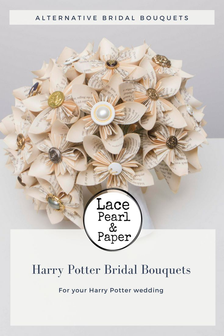 A page for lovers of Harry Potter book page bouquets Handmade from