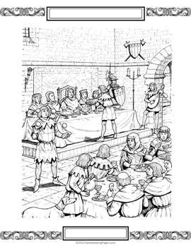 Medieval Worksheets Middle Ages Notebooking Coloring Pages