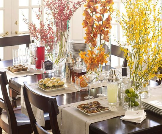 Cocktail Party Overview Pottery Barn Thanksgiving Home Decorations Thanksgiving Table Decorations Thanksgiving Dining Room Decor