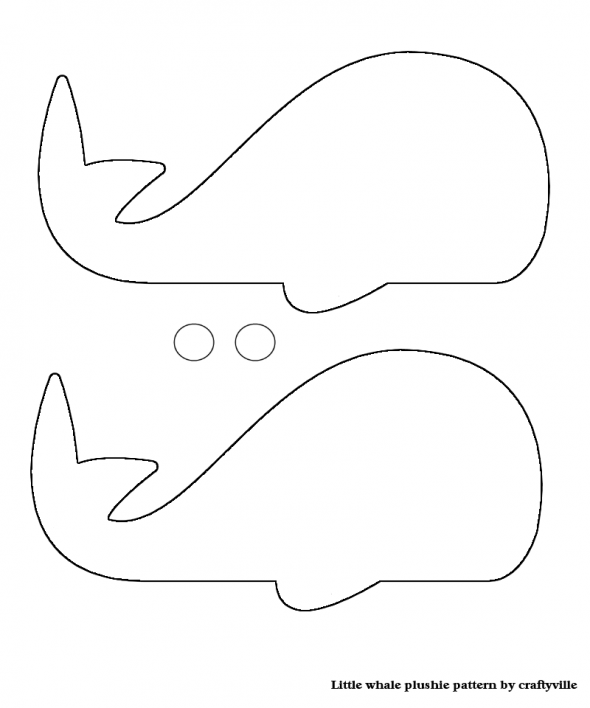 Whale Pattern  Photo Card Template From