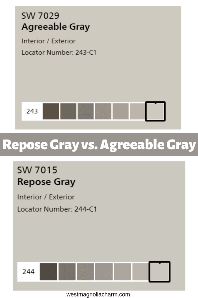 Repose Gray by Sherwin Williams - West Magnolia Charm